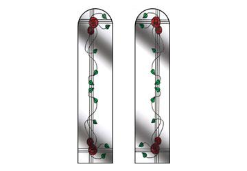 fleur style windows with rose