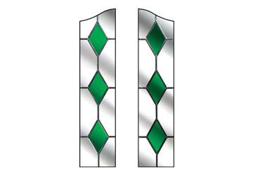 green drop diamond windows for doors