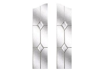 classic door windows with diamonds