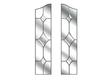 crystal diamond doors
