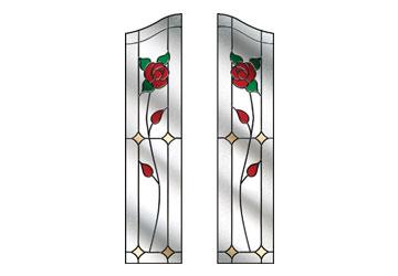 door windows with english roses