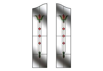 fleur style door glass