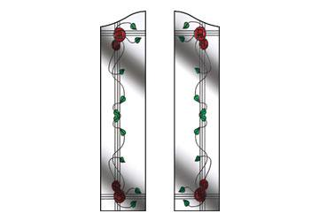 mackintosh rose glass in windows