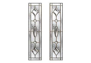door glass in brass art clarity style