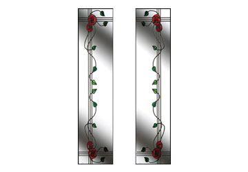 mackintosh rose glass