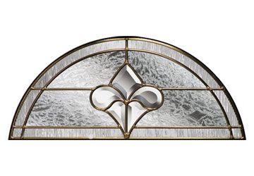 brass art clarity top window semi circle
