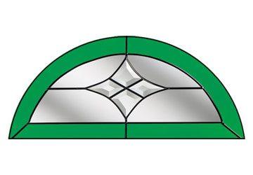 crystal harmony green semi circle