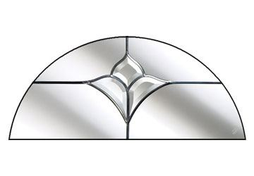 crystal tulip arch semi circle