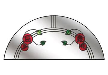 mackintosh rose stained glass window