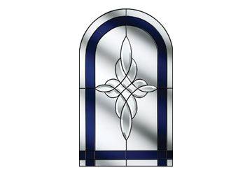 crystal harmony blue window for composite door