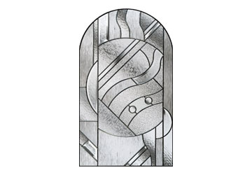 zinc art abstract modern style door