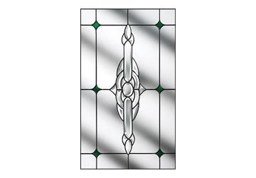 crystal bohemia green door window