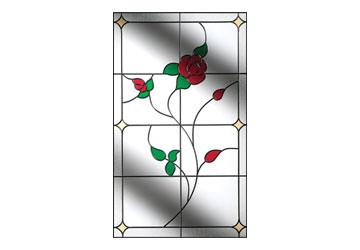 english rose window for door