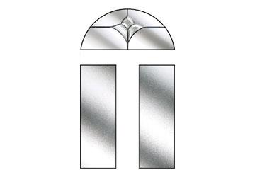 crystal tulip arch style windows