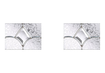 zinc art clairty small glass panels