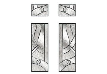 zinc art abstract glass design for doors