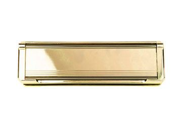 gold letterplate