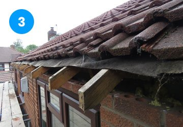 remove fascia, soffits and guttering