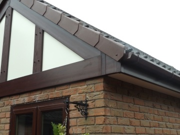 guttering on house