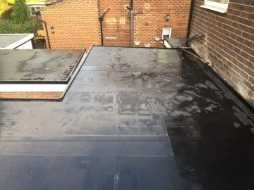 cleaned flat roof
