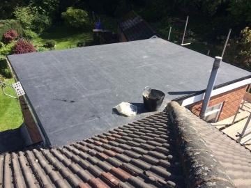 adding a flat roof