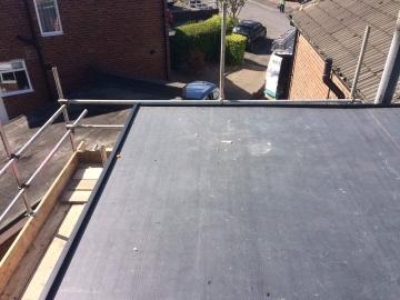 corner of a flat roof