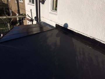 flat roof work in progress