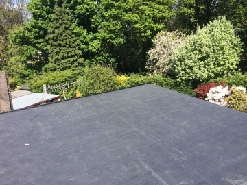 flat roof completed