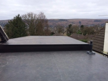 flat roof with two levels